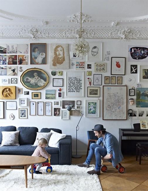 Un mur de tableaux madame marion - Faire un mur de tableaux ...